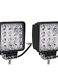 cheap -led light bar 2pcs 4inch 48w square led pod light flood light off road light led fog light truck light driving light boat light pickup suv atv utv waterproof, 2 year warranty