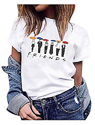cheap -women's funny cute summer graphic tees tops friends tv show shirt casual t-shirt-l