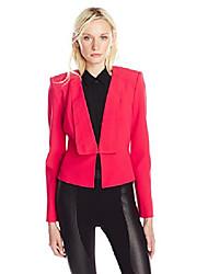 cheap -women's pen relaxed blazer, lipstick red, small