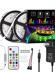 cheap -RGB IC LED Lights Strip Kit 5M 10M 5050 RGB 300LEDs 150LEDs Waterproof Dream-color LED strip WS2811 with RF Remote and Power Supply DC12V