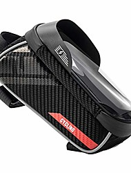 cheap -road bicycle front frame phone bag,waterproof bike front frame phone bag touchscreen