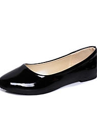 cheap -Women's Flats Flat Heel Pointed Toe Classic Daily Patent Leather Solid Colored White Black Purple