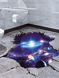 cheap -Cosmic Galaxy Wall Decals 3D Magic Milky Way Outer Space Satellite Planet Stickers Murals Wallpaper for Home Decor Floor Ceiling Living Room Kids Room 1pc 64*40cm