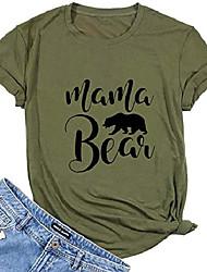 cheap -women mama bear shirt funny letter printed saying short sleeve summer pullover tee t-shirt (xx-large) green