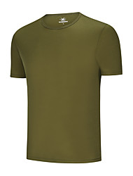 cheap -men's t-shirt short sleeve, crew neck - 100% soft, durable new zealand wool