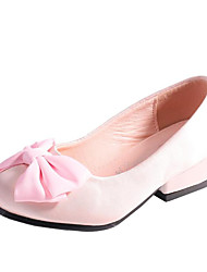 cheap -Girls' Heels Flower Girl Shoes Tiny Heels for Teens Princess Shoes Satin Retro Little Kids(4-7ys) Big Kids(7years +) Wedding Party & Evening Bowknot Champagne Ivory Light Pink Fall Summer