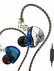 cheap -trn-stm hybrid dual drivers in ear monitors, 1dd+1ba hybrid driver hifi in-ear earphones with swappable tuning nozzles with detachable cable for android, windows, phone (with mic, green)