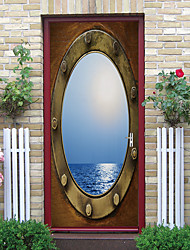 cheap -Imitation Ship Window Self-adhesive Creative Door Stickers For Living Room DIY Decorative Home Waterproof Wall Stickers