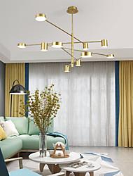 cheap -6/8 Heads LED Chandelier Nordic Pendant Light Gold Sputnik Design Tricolor Light Metal Electroplated 110-120V 220-240V