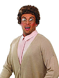 cheap -adult brown granny wig mens ladies tv character hair costume accessory