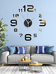 cheap -Simple Digital DIY Mirror Wall Clock Quiet Wall Clock Living Room Background Wall Decoration Quartz Clock with Back Glue 40cm*40cm