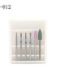 cheap -6pc/lot Ceramic Diamond Milling Cutter for Manicure Nail Drill Electric Machine Accessories Bits Set Burr Pedicure Art Tools