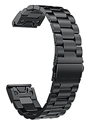 cheap -compatible with garmin fenix 5 plus/6 pro watch band, 22mm stainless steel replacement watch band for fenix 6/6 pro/fenix 5/5 plus/forerunner 935/945/approach s60(black)