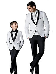 cheap -groom tuxedos men's wedding dress prom suits father and boy tuxedos men's suits(xl) white