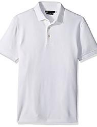 cheap -men's short sleeve solid color regular fit polo shirt, marine blue ampthill, l