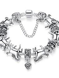 cheap -love beads charms bracelet for girls and women murano glass beads rose flower charms amethyst bracelets (mustang horse bracelet)