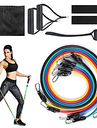 cheap -Resistance Band Set Stretch Out Strap Suspension Trainer Basic Kit 11 pcs Resistance Bands 5 Stackable Exercise Bands Door Anchor Sports Latex Home Workout Gym Workout Exercise & Fitness Portable