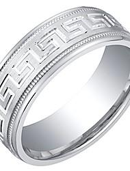 cheap -mens sterling silver greek key wedding ring band in brushed matte milgrain 7mm comfort fit size 8.5