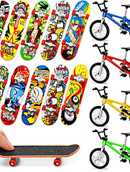 cheap -14 pcs Finger skateboards Mini fingerboards Finger bikes Finger Toys Plastics Alloy Office Desk Toys with Replacement Wheels and Tools Party Favors Kid's Adults All Party Favors  for Kid's Gifts