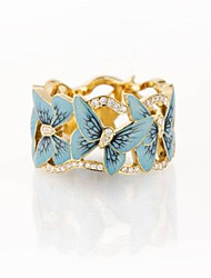 cheap -Ring AAA Cubic Zirconia Gold Platinum Plated Butterfly Stylish 1pc 5 6 7 8 9 / Women's / Wedding / Gift / Daily