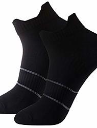 cheap -men's and women's 2-pack black anti sweat antibacterial odor free quick dry athletic low cut running socks