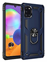 cheap -for samsung galaxy a31 case ultra slim flexible tpu hard pc shell 2 in 1 military armor dual layer fit samsung a31 protective cover with 360° ring grip kickstand magnetic car mount