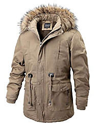 cheap -men's winter sherpa lined hooded parka jacket down alternative coat (large, khaki)