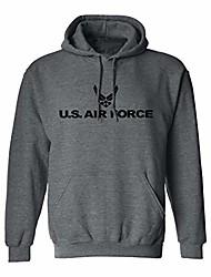 cheap -u.s. air force adult hooded sweatshirt in dark heather - xxx-large