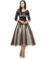 cheap -? women's sheer vintage 1/2 half sleeves short champagne and black mother of the bride formal dresses us 6