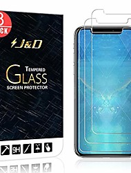 cheap -j&d compatible for iphone xr 6.1 inch glass screen protector (3-pack), not full coverage, tempered glass hd clear ballistic glass screen protector for iphone xr 6.1 inch screen protector