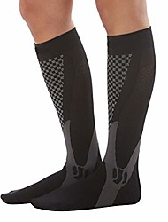 cheap -compression socks for men & women-boost stamina,accelerate blood circulation-ideal for sports, work, flight s/m black/one pair