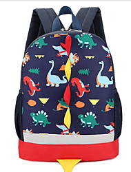 cheap -Boys' Girls' Canvas School Bag Commuter Backpack Large Capacity Breathable Zipper Cartoon School Daily Blue Red Blushing Pink Dark Blue