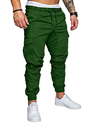 cheap -Hiking Pants Men's Basic Plus Size Daily wfh Sweatpants / Cargo Pants - Solid Colored Spring Fall Navy Blue Khaki Light gray XXL XXXL XXXXL