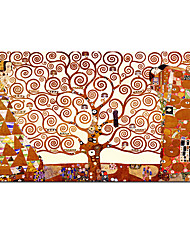 cheap -World Famous Painting Series 100% Hand painted Citon Gustav Klimt The Tree Of Life 1909 on Canvas Art Oil Painting Famous Art  Wall Decor Home Interior Decoration