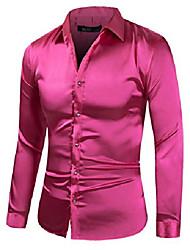 cheap -2600-regular185 men's regular-fit solid color dance prom dress shirt rose red