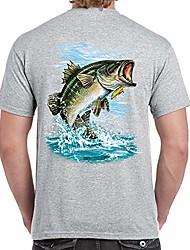 cheap -adult 100% cotton supersoft bass fishing t shirt (xxlarge, heather gray)
