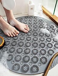 cheap -New Environmentally Friendly Pvc Round Bathroom Non-slip Floor Mat, Household Bathroom Shower Room Suction Cup Hydrophobic Massage Foot Mat