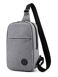 cheap -Men's Bags Oxford Cloth Sling Shoulder Bag Chest Bag Zipper Graphic Prints Daily Office & Career Baguette Bag MessengerBag Gray