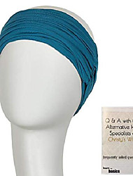 cheap -bundle - 2 items: chitta headband by christine headwear (item #1), christy's wigs q & a booklet (item #2) - color: ocean blue
