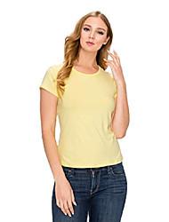 cheap -women basic knit top super soft-comfortable fit-suitable for any bottoms (lemon, medium)