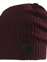 cheap -marberry cashmere beanie, wine, one size
