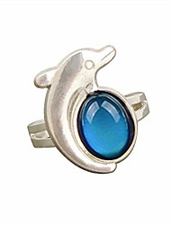 cheap -rainbow love mood ring can change the color and adjust the size of the decorations