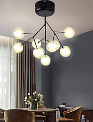 cheap -9-Light 55 cm Flush Mount Lights Metal Glass Painted Finishes Modern 110-120V / 220-240V / G9