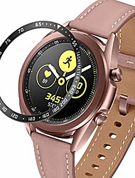 cheap -bezel ring compatible with samsung galaxy watch 3 45mm, stainless steel bezel cover protector adhesive styling scratch protection case (black, 45mm)