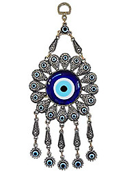 cheap -turkish glass sun design turkish blue evil eye wall hanging - turkish nazar bead - metal home decor amulet - protection and good luck charm gift in a box