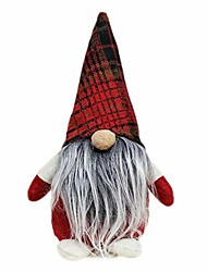 cheap -handmade plaid gnome swedish christmas santa tomte elf plush doll holiday figurines xmas home table ornaments