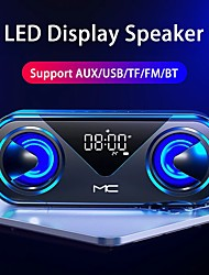 cheap -H9 LED Portable Bluetooth Speakers Wireless Stereo Bass Hifi Speaker Support TF Card AUX USB Handsfree With Flash LED Clock