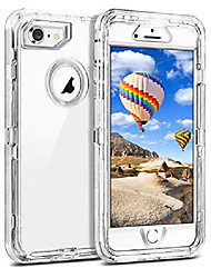 cheap -clear case for iphone 8 iphone 7 se 2020, hybrid protective dual layer shockproof case with hard pc bumper soft tpu back for 4.7 inches iphone 6 6s 7 8 se 2nd, transparent