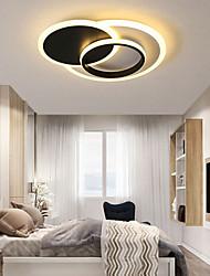 cheap -48/58 cm LED Ceiling Light Circle Modern Nordic Simple Basic Geometric Shape Black White Living Room Bedroom Flush Mount Lights Metal Painted Finishes 220-240V
