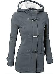 cheap -warm windbreaker,leegor lady wool slim coat thickening horns deduction outwear (l, dark grey)